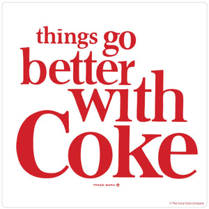 Things Go Better With Coke 1960s Style Sticker