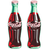 Coca-Cola Green Contour Bottle Sticker Set