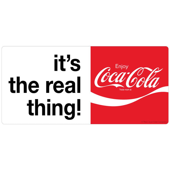 Coca-Cola Real Thing Sticker