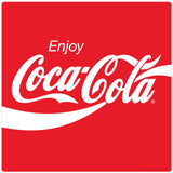 Enjoy Coca-Cola Wave 80s Style Sticker