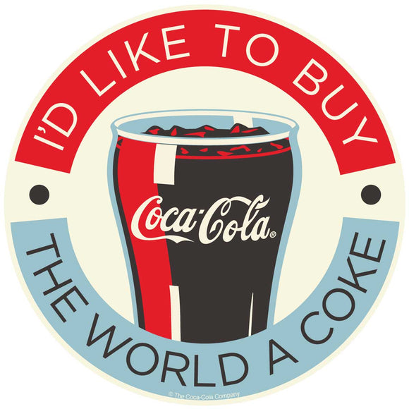 Id Like To Buy The World A Coke Coca-Cola Sticker