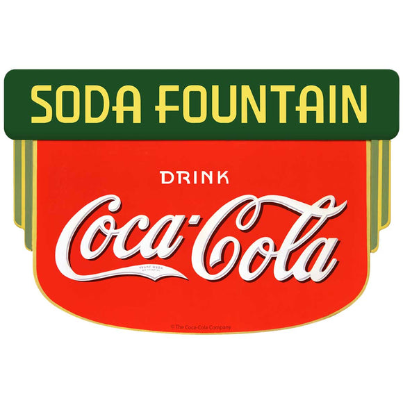 Coca-Cola Soda Fountain Deco Sticker