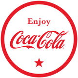 Enjoy Coca-Cola White Circle Sticker