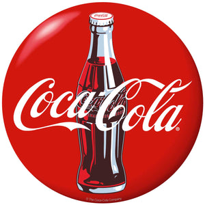 Coca-Cola Bottle Red Disc Button Sticker