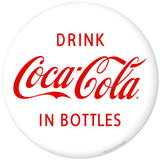 Drink Coca-Cola In Bottles White Disc Sticker