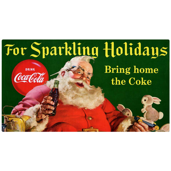 Coca-Cola Sparkling Holidays Santa Decal