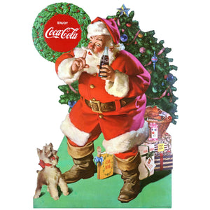 Coca-Cola Santa And Dog Decal