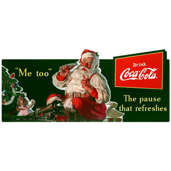 Coca-Cola Santa Me Too Pause That Refreshes Decal