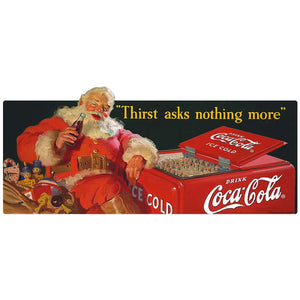 Coca-Cola Santa Thirst Asks Nothing More Decal