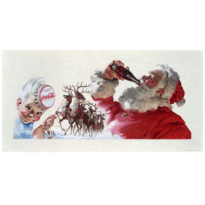 Coca-Cola Santa Sprite Boy Reindeer Decal