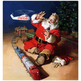 Coca-Cola Santa Helicopter Seasons Greetings Decal