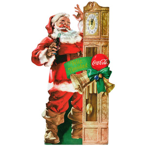Coca-Cola Santa Grandfather Clock Decal