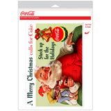 Coca-Cola Santa Merry Christmas Stock Up Decal