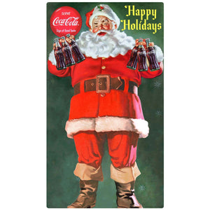 Coca-Cola Santa Happy Holidays Decal