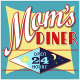 Moms Diner Decal