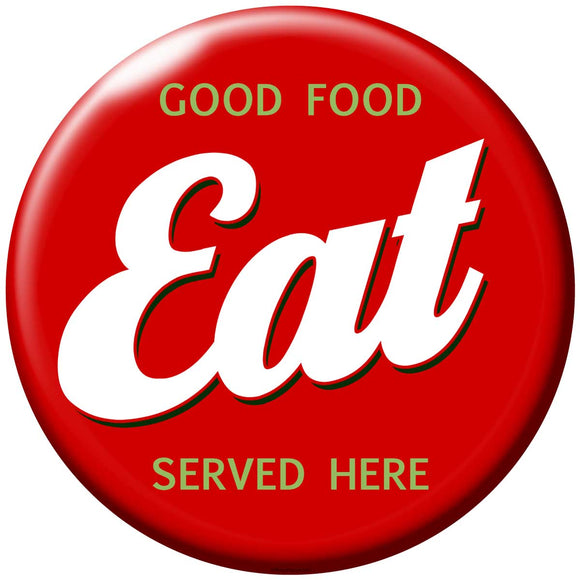 EAT Button Decal
