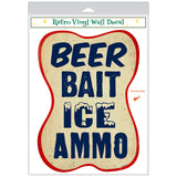 Beer Bait Ice Ammo Cut Out Decal