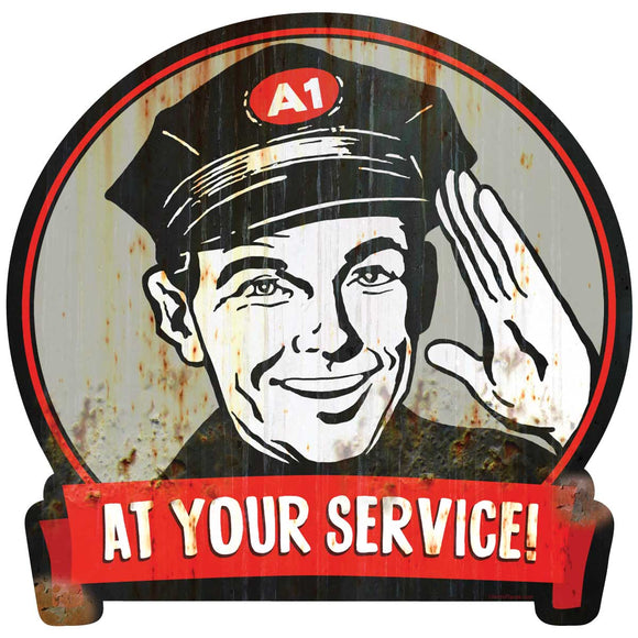 Gas Station Attendant Decal