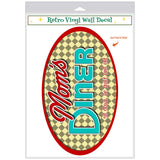 Moms Diner Oval Check Decal