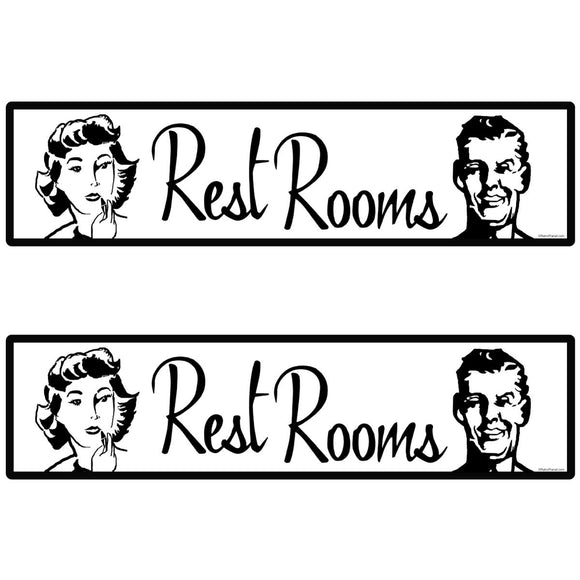 Restrooms Decal Set