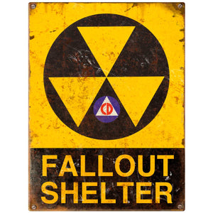 Fallout Shelter Civil Defense Decal
