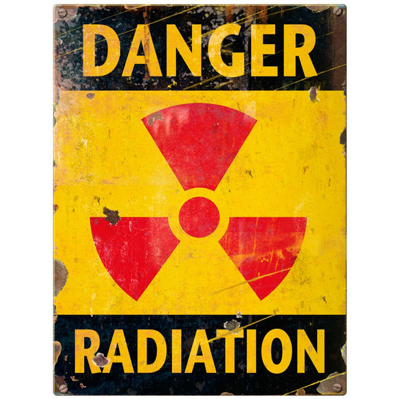Danger Radiation Decal