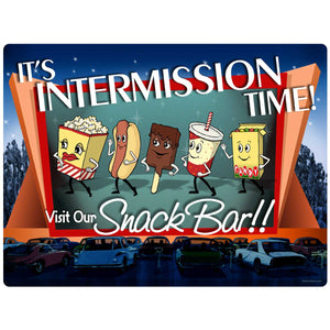 Snack Bar Intermission Time Decal