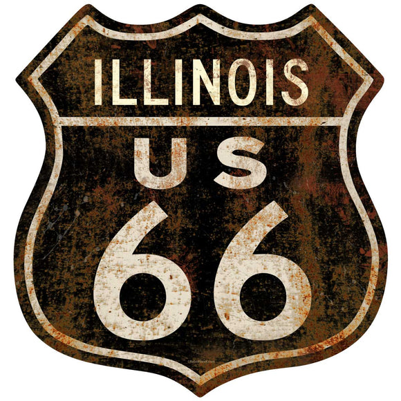 Route 66 Illinois Decal
