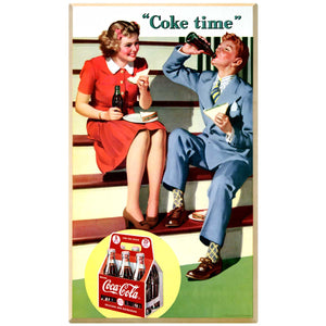 Coke Time Couple 1940s Decal