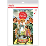 Coca-Cola Play Host to Thirst 1950s Decal