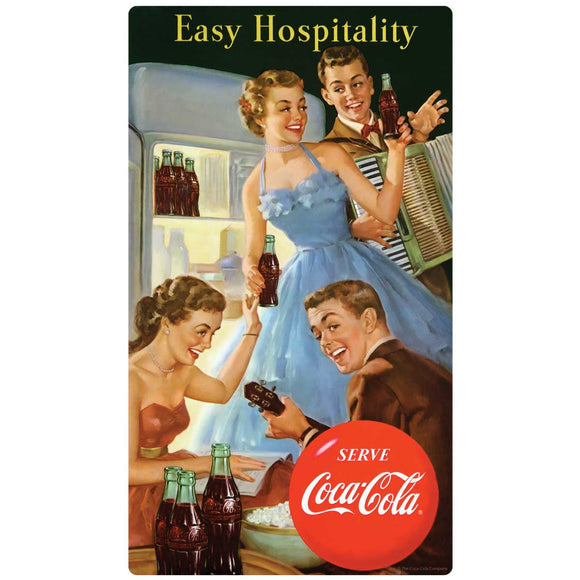 Serve Coca-Cola Easy Hospitality 1950s Decal