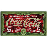 Coca-Cola In Fountains And Bottles Decal