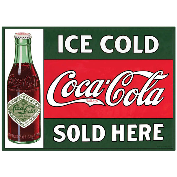 Ice Cold Coca-Cola Sold Here Decal