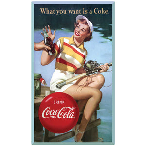 What You Want Is a Coke Fishing Girl Decal