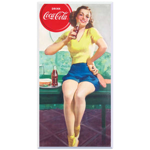 Drink Coca-Cola Ping Pong Girl Decal