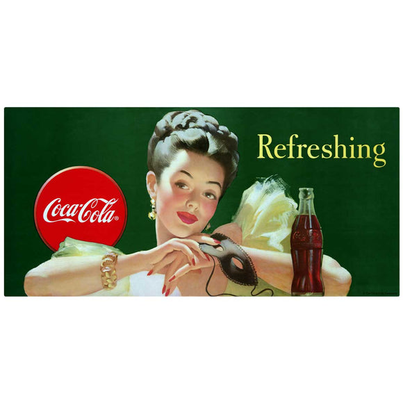 Refreshing Coca-Cola Girl With Mask Decal