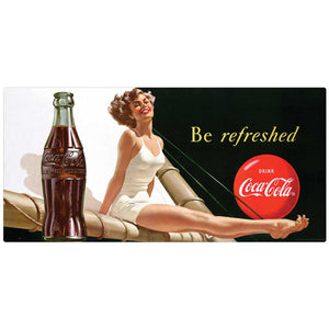 Coca-Cola Bathing Beauty Be Refreshed Decal