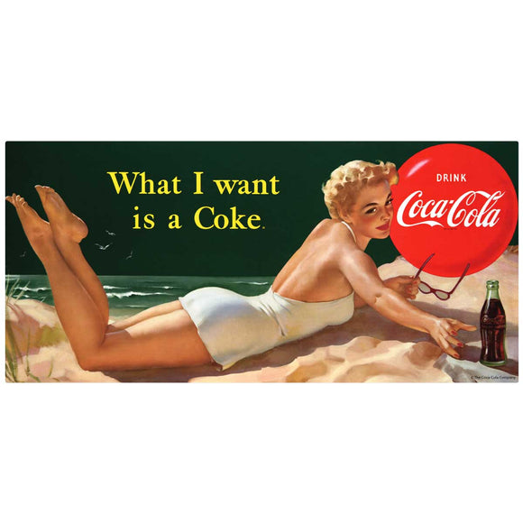 What I Want Is a Coke Bathing Beauty Decal