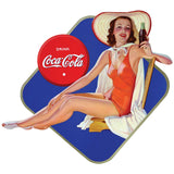 Coca-Cola Bathing Beauty in Beach Chair Decal