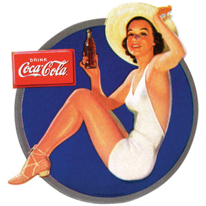 Coca-Cola Beach Beauty In Hat Decal