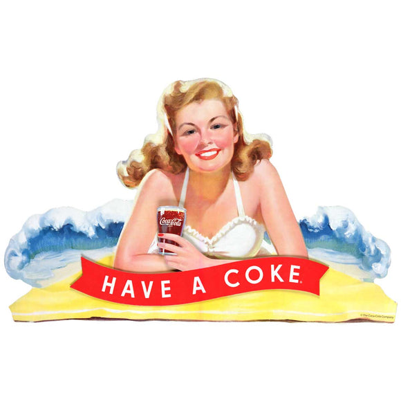 Have a Coke Beach Lady Decal