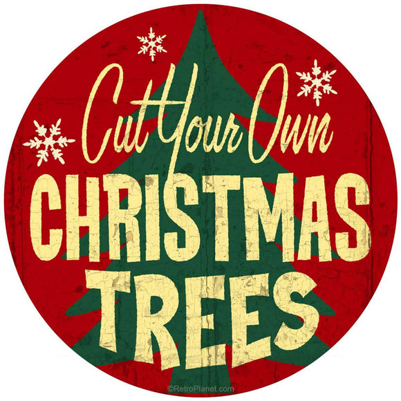 Cut Your Own Christmas Trees Sticker