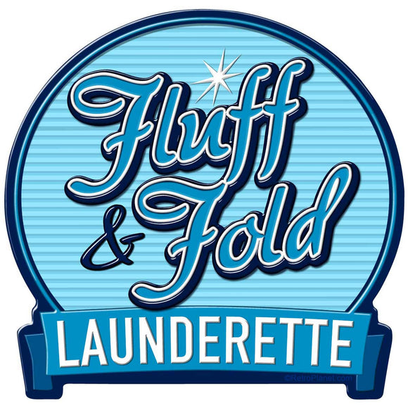 Fluff and Fold Launderette Sticker