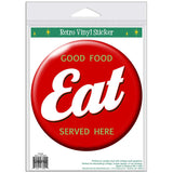 EAT Button Sticker