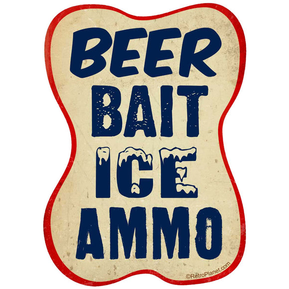 Beer Bait Ice Ammo Sticker