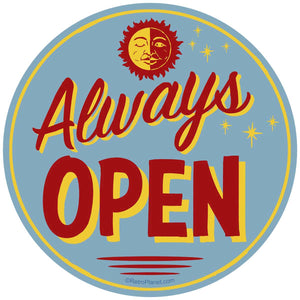 Always Open Sticker