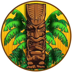 Angry Tiki Idol Sticker