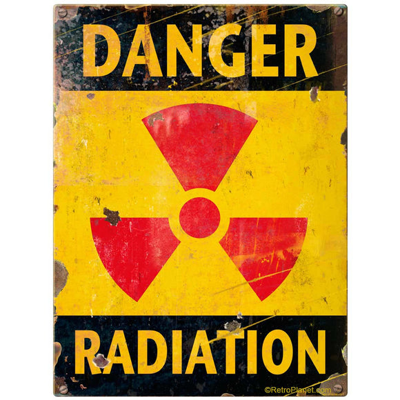 Danger Radiation Sticker