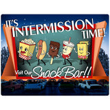 Snack Bar Drive-In Movie Intermission Time Sticker