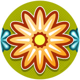 Mod Flower Orange Sticker